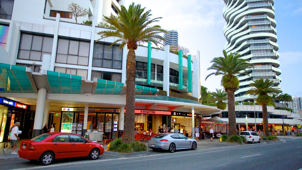 Broadbeach which includes modern architecture and a city
