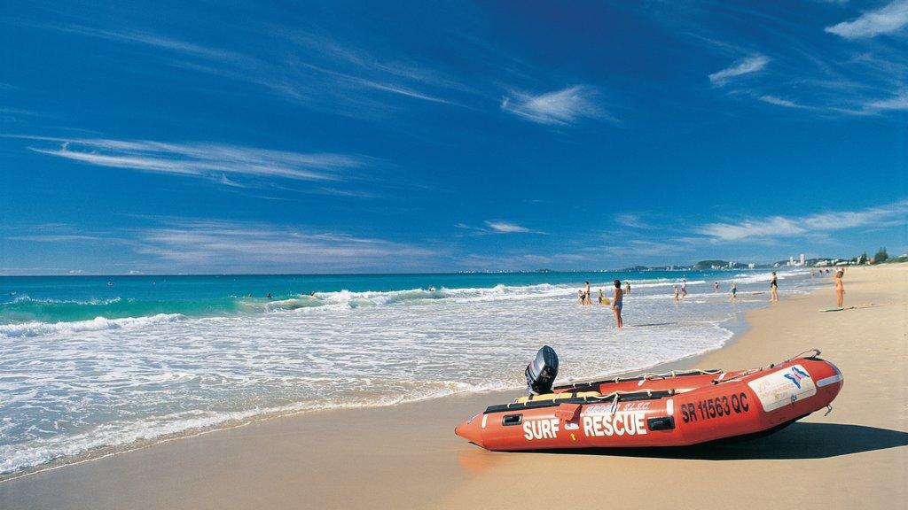 Broadbeach which includes general coastal views and a sandy beach