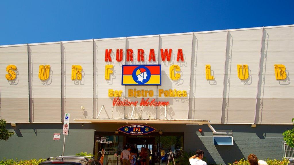 Kurrawa Beach mostrando señalización