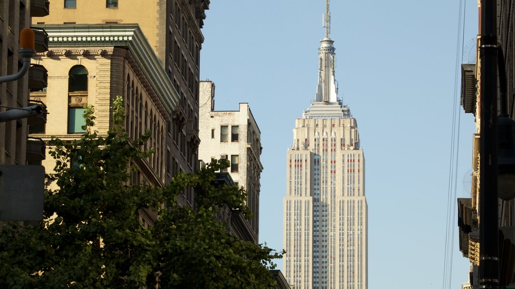 Empire State Building featuring a high rise building, city views and a city