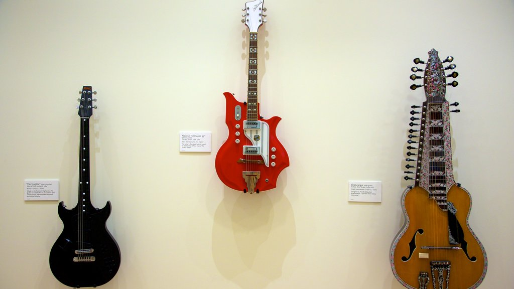 Musical Instrument Museum featuring interior views