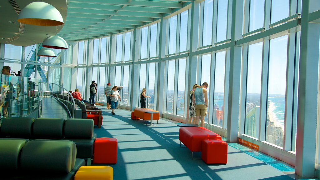 SkyPoint Observation Deck featuring views, interior views and modern architecture