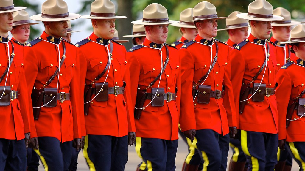 Regina which includes military items as well as a large group of people