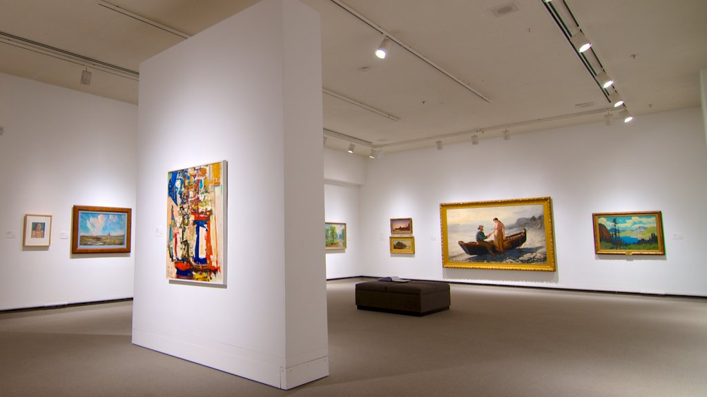 Mackenzie Art Gallery which includes art and interior views