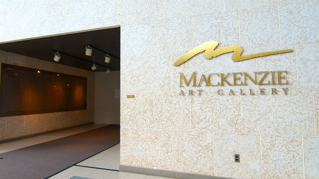 Mackenzie Art Gallery showing signage