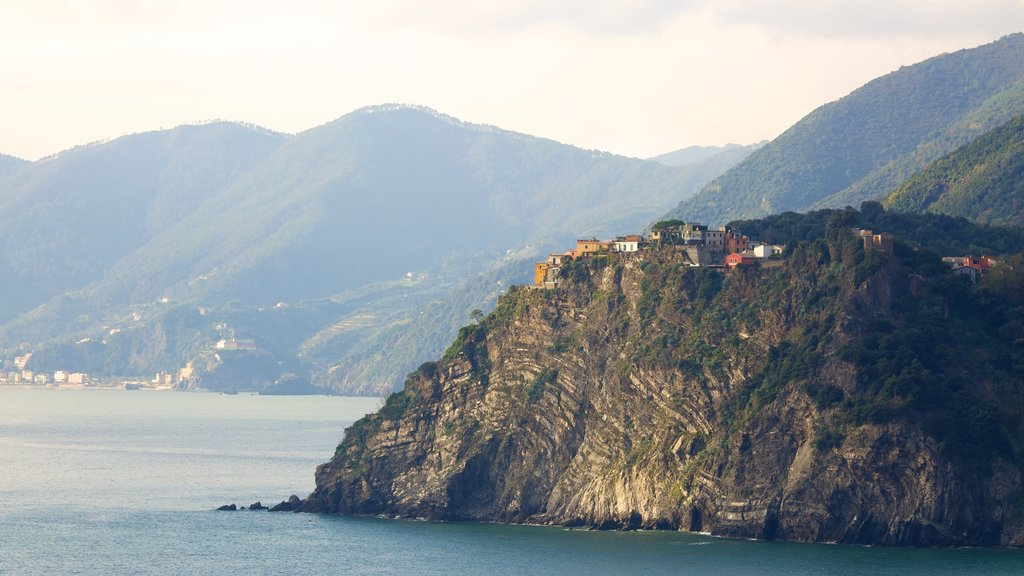 Manarola featuring landscape views, mountains and general coastal views