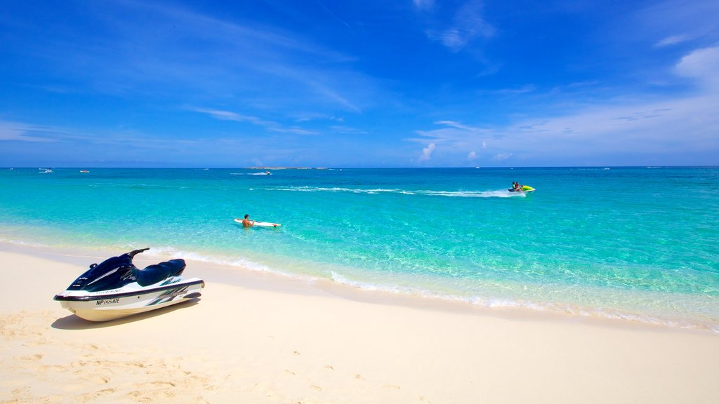Cabbage Beach featuring jet skiing, a sandy beach and landscape views