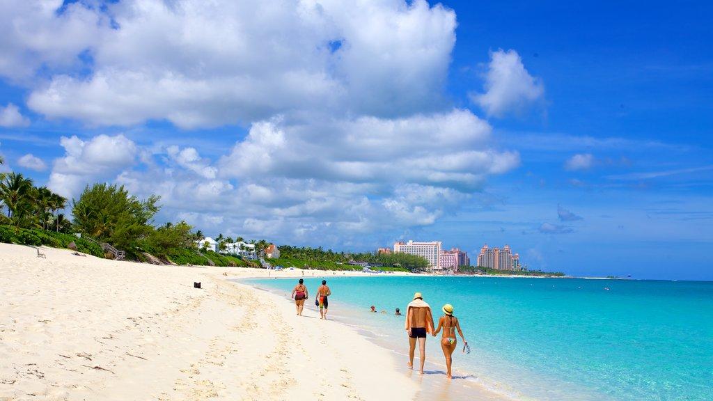 Cabbage Beach featuring a coastal town, landscape views and a sandy beach