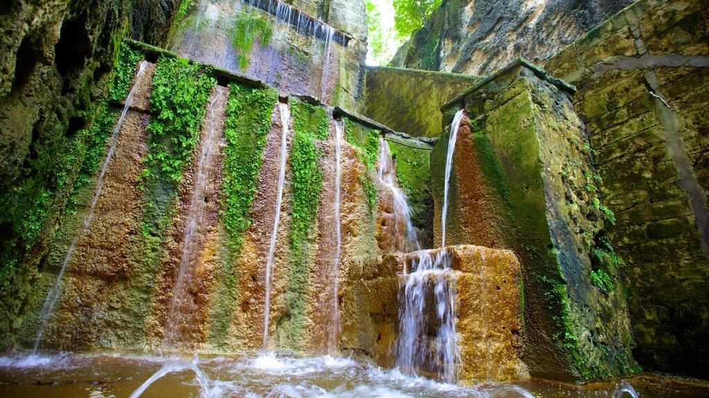 Queen\'s Staircase featuring a cascade