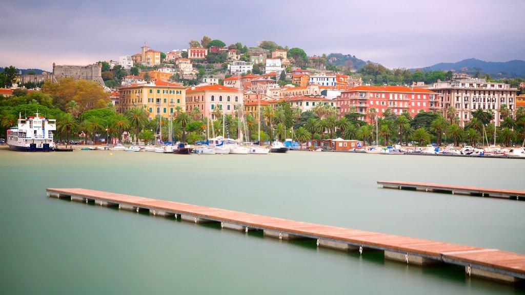 La Spezia showing a coastal town and a marina
