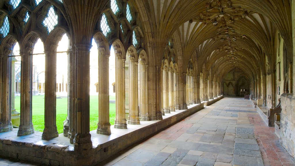 Canterbury Cathedral which includes religious aspects, interior views and a church or cathedral