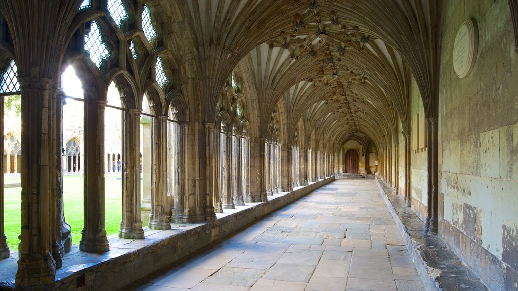 Canterbury Cathedral featuring heritage architecture, a church or cathedral and interior views