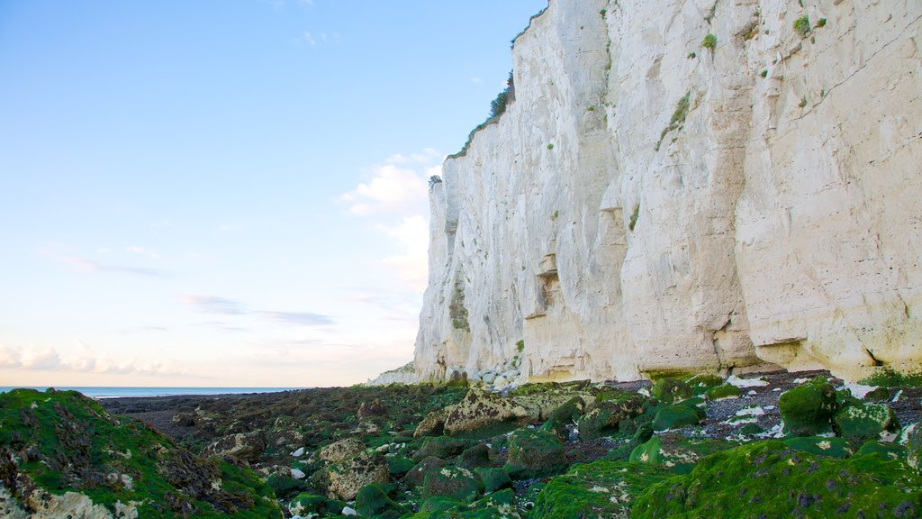 White Cliffs of Dover which includes mountains, rocky coastline and landscape views