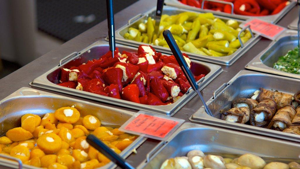Viktualienmarkt showing interior views, markets and food