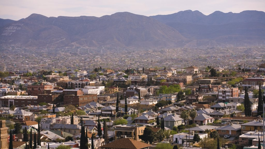 El Paso featuring a city and mountains