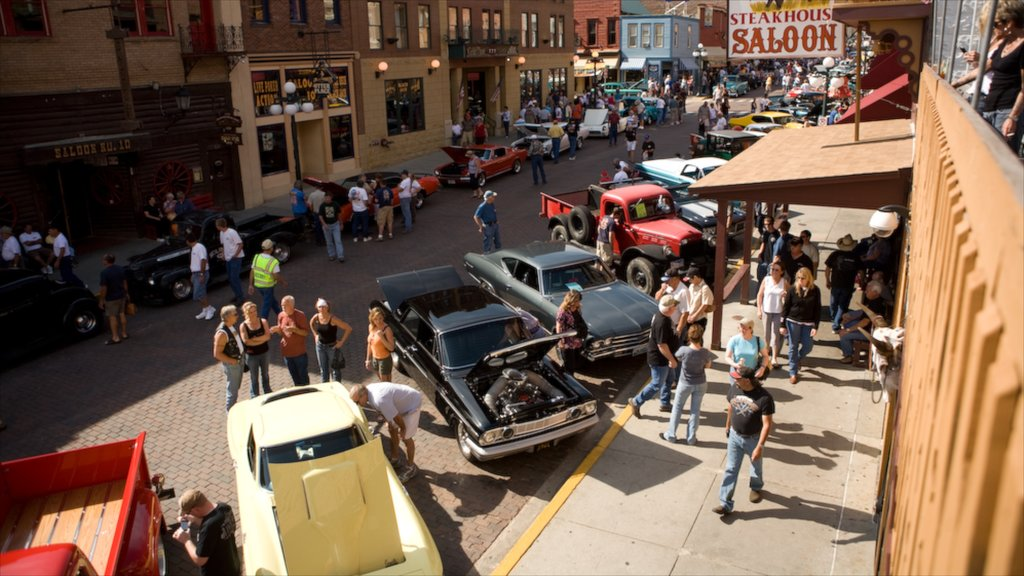 Deadwood which includes a city and street scenes as well as a large group of people