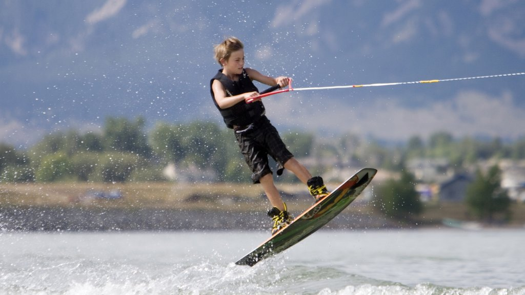 Boulder featuring water skiing as well as an individual child