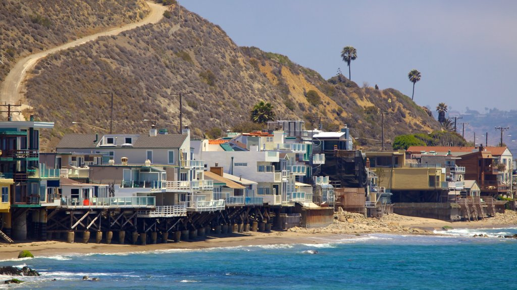 Malibu showing a coastal town, a beach and a house