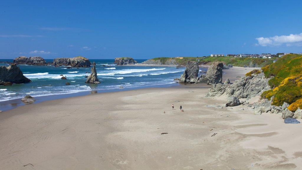 Bandon featuring landscape views and a beach