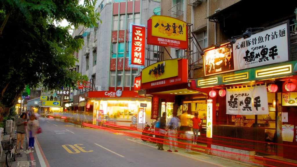 Yong Kang Street which includes street scenes, a city and shopping
