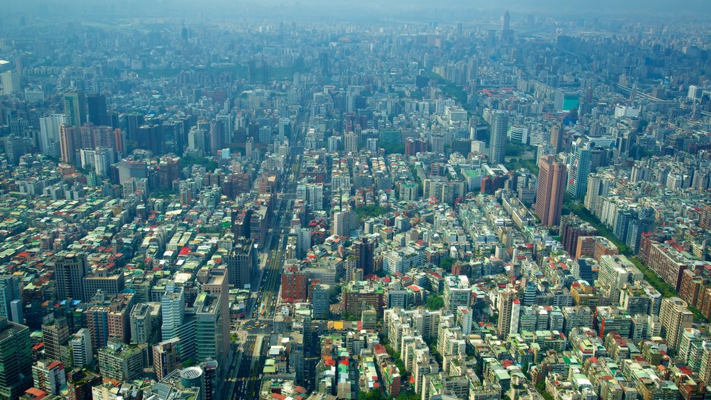 Taipei 101 featuring a city, a high rise building and central business district