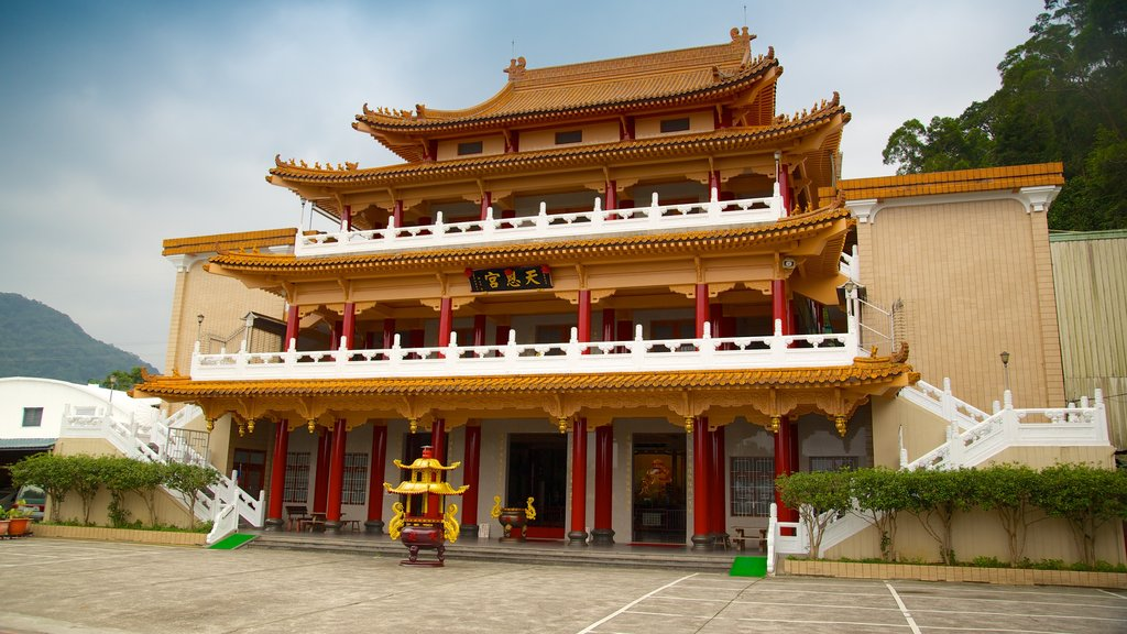 Taipei showing religious elements, a city and heritage architecture