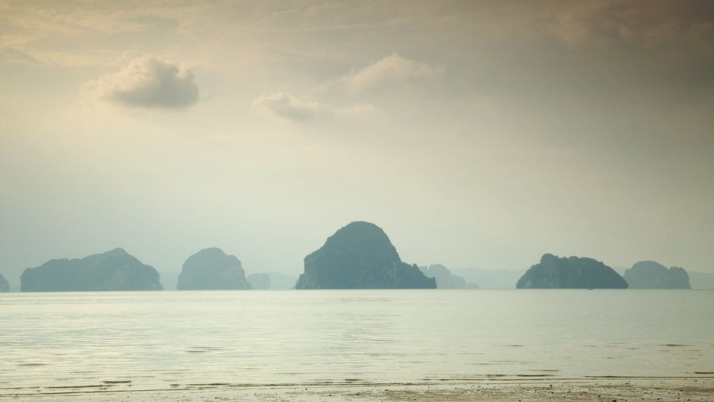 Ao Phra Nang Beach featuring island views, mist or fog and general coastal views