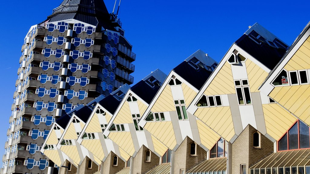 Rotterdam featuring modern architecture and a city