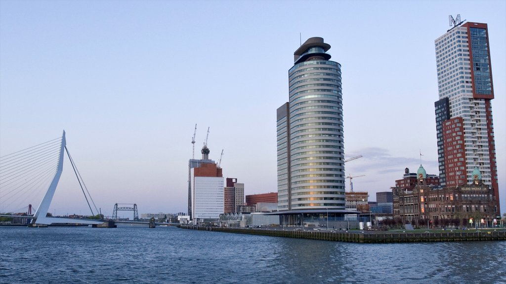 Rotterdam featuring cbd, general coastal views and a river or creek