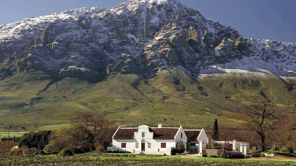 Ceres ofreciendo una casa, montañas y vistas de paisajes