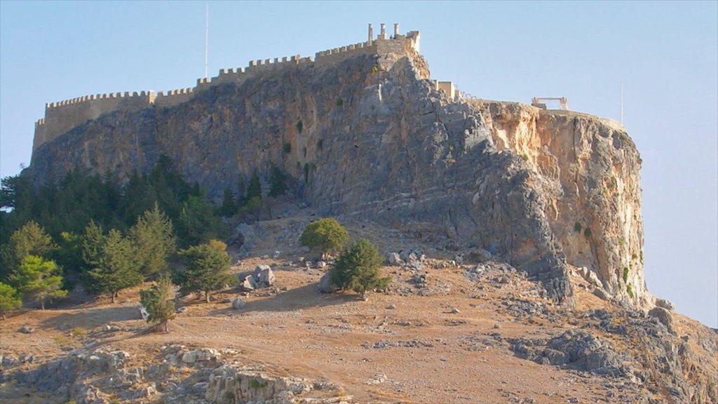 Lindos showing chateau or palace