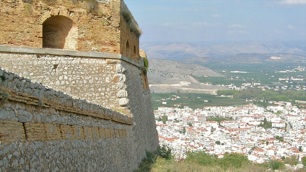 Nafplio showing heritage architecture and chateau or palace