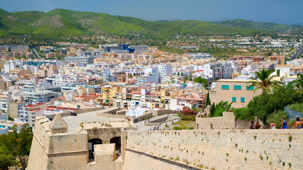 Ibiza showing heritage architecture and a city