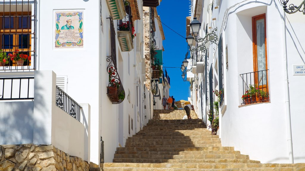 Altea which includes street scenes, a house and a coastal town