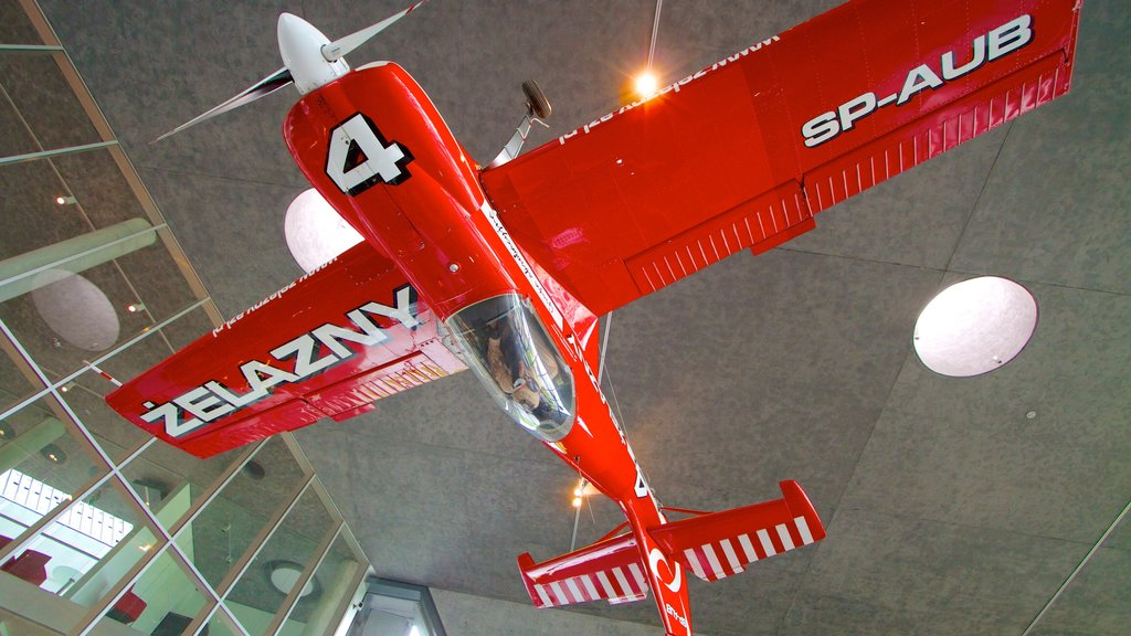 Polish Aviation Museum showing interior views and aircraft