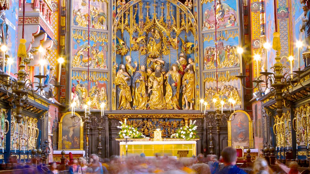St. Mary\'s Basilica which includes religious elements, interior views and a church or cathedral