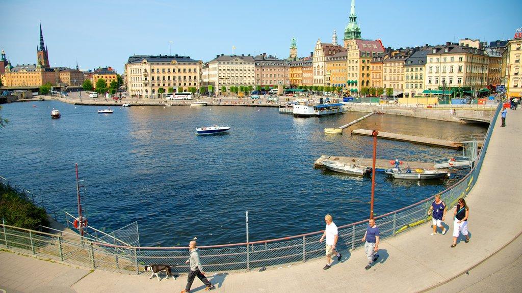 Estocolmo ofreciendo una bahía o puerto, una marina y paseos en lancha