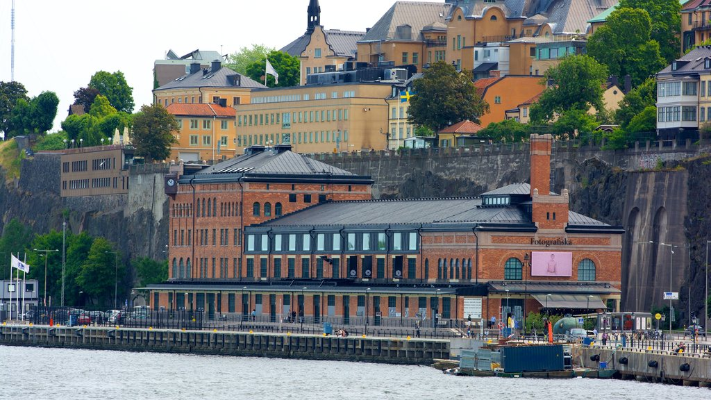 Fotografiska showing heritage architecture and a coastal town