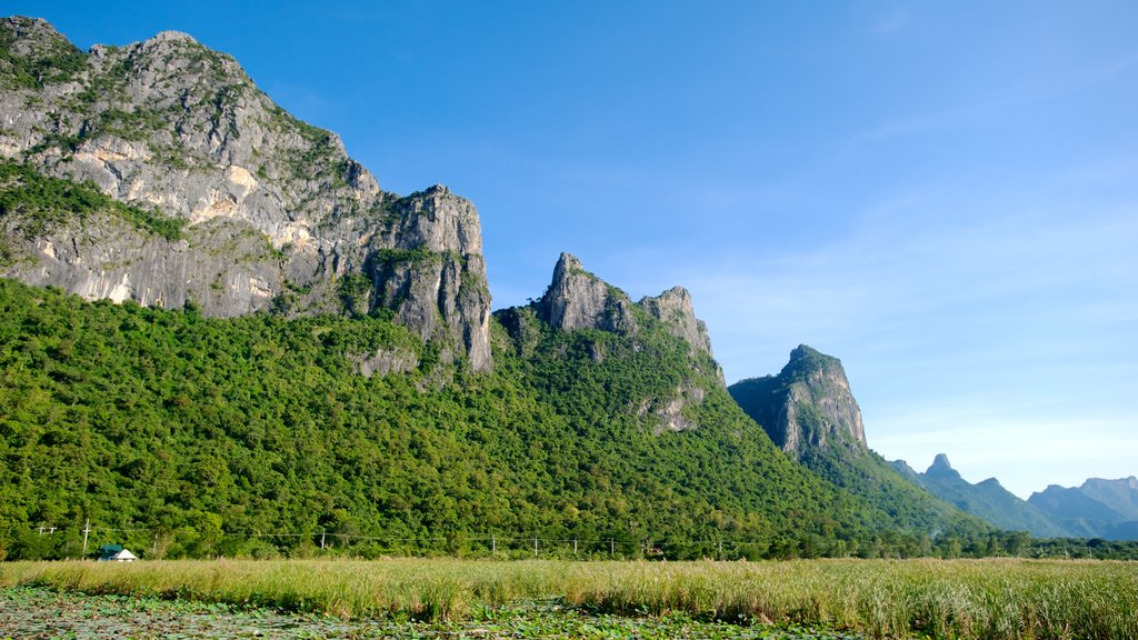 Sam Roi Yot National Park which includes landscape views, mountains and wetlands