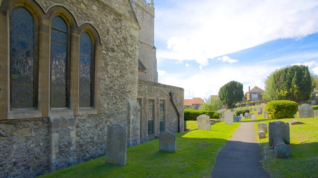 Hythe which includes heritage elements, a cemetery and religious elements