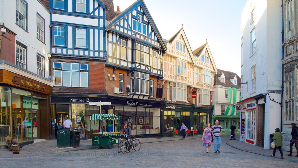 Canterbury which includes street scenes and heritage architecture as well as a couple
