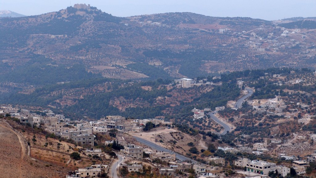 Ajloun showing a city and landscape views