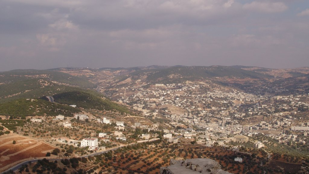 Ajloun showing a city, landscape views and tranquil scenes