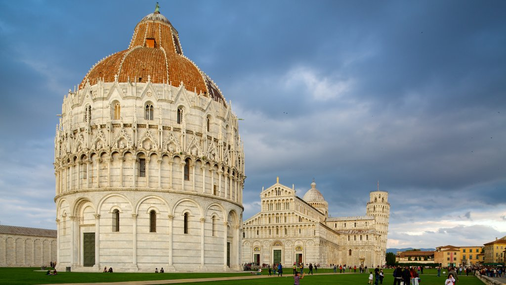 Pisa Baptistry featuring religious aspects, chateau or palace and a city
