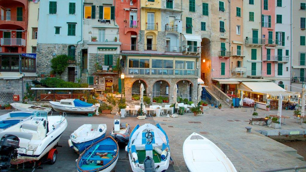 La Spezia showing heritage architecture, a coastal town and a marina