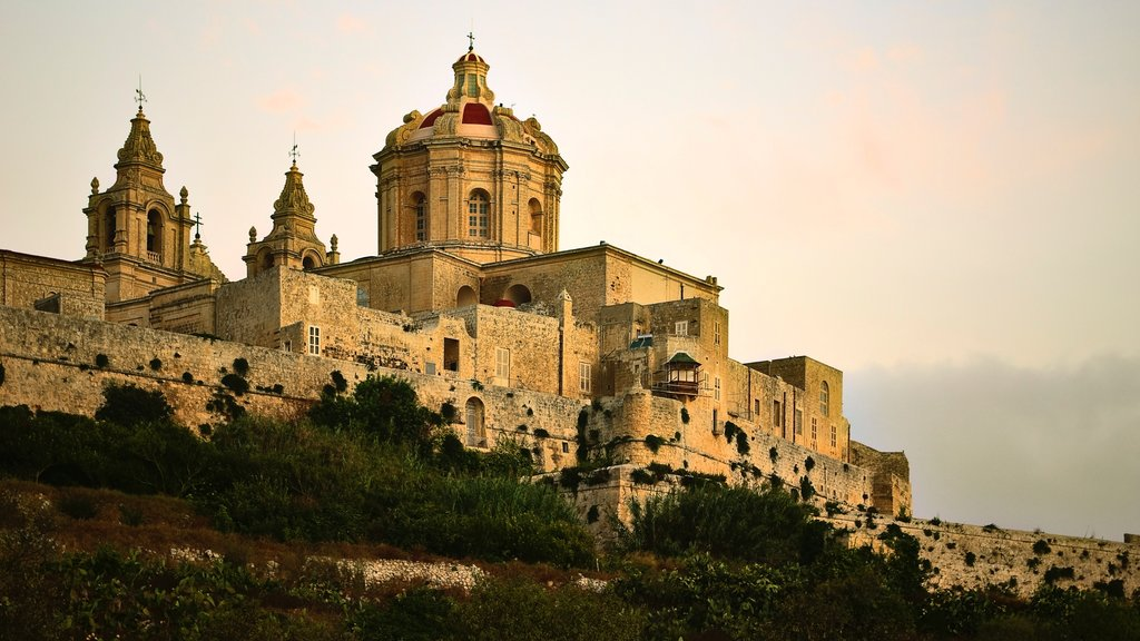 Mdina showing heritage elements, heritage architecture and chateau or palace