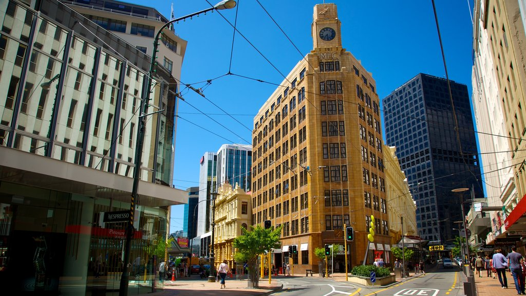Wellington which includes a city and heritage architecture