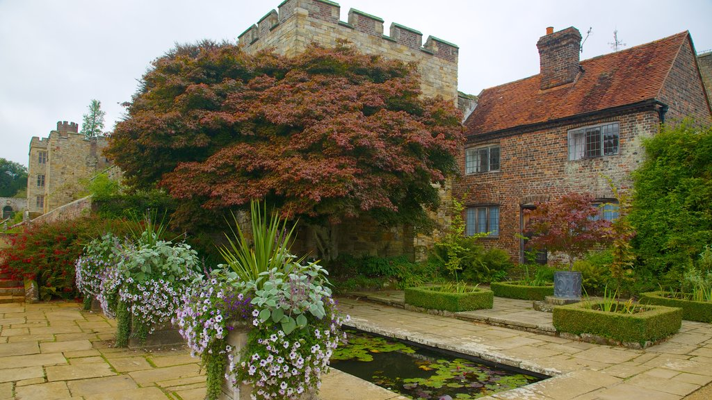Penshurst Place and Gardens featuring heritage architecture, flowers and a house