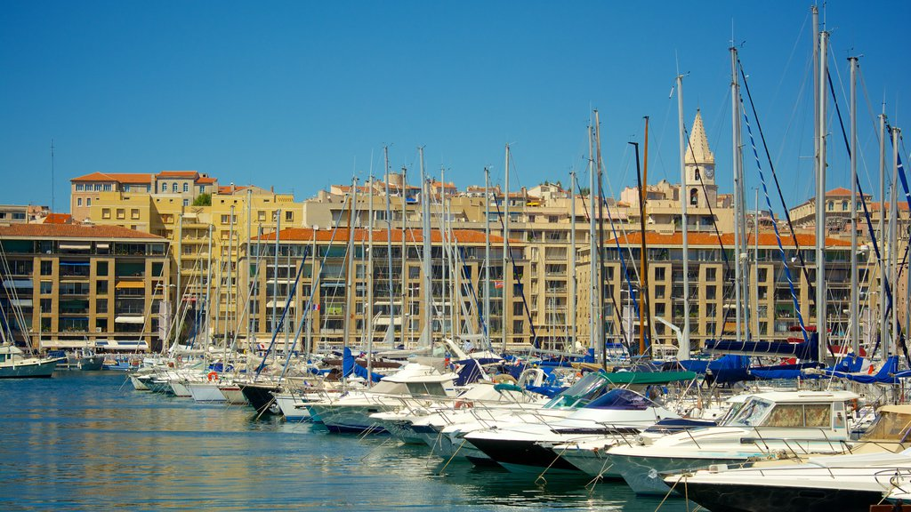 Vieux Port which includes a marina and sailing