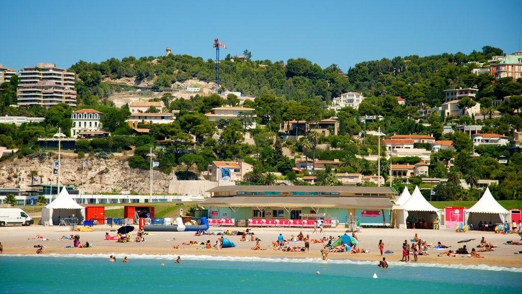 Prado Beach featuring a coastal town, general coastal views and a sandy beach